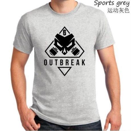 レインボーシックス シージ  ゲーム Outbreak ロゴ Tシャツ Tom Clancy's Rainbow Six Siege ユニセックス R6S シージグッズ 4