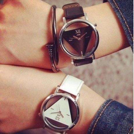 海外ブランド SOXY ファッション トライアングル 透明 レディース腕時計 個性的 おしゃれ 日本未入荷 ラグジュアリー