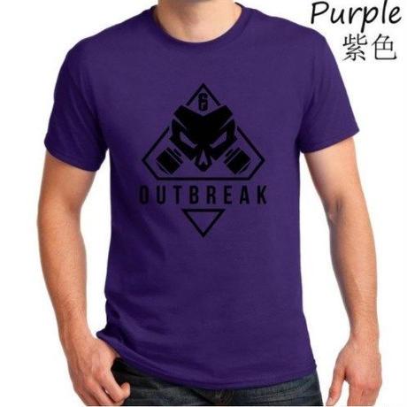 レインボーシックス シージ  ゲーム Outbreak ロゴ Tシャツ Tom Clancy's Rainbow Six Siege ユニセックス R6S シージグッズ 6