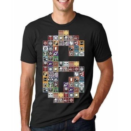 レインボーシックス シージ   カラフルロゴ   Tシャツ Tom Clancy's Rainbow Six Siege ユニセックス R6S シージグッズ ブラック
