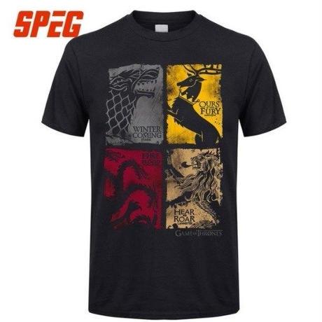ゲーム・オブ・スローンズ Game of Thrones  Tシャツ ブラック