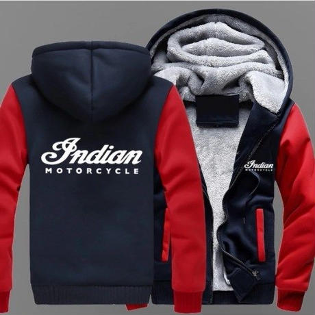 高品質 インディアンモーターサイクル あったかいフード ジップ フリースパーカー 仮装 衣装 コスチューム 小道具 海外限定  Indian Motorcycle  2