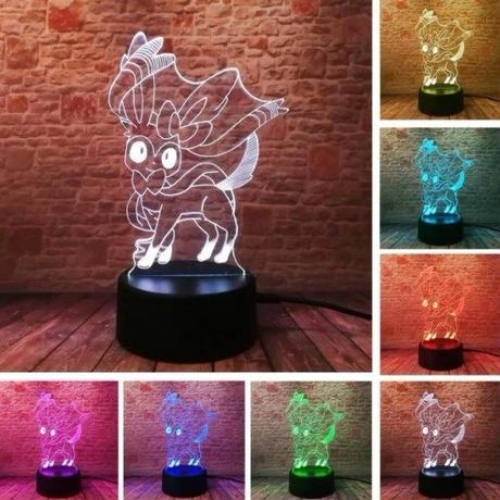 ニンフィア アクリルパネル LED発光 プレゼント クリスマス ギフトにも  pokemon ポケモンgo