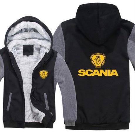 高品質  スカニア SCANIA   あったかい フリースパーカー ジップアップ  衣装 コスチューム 小道具 海外限定 15