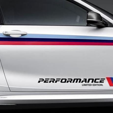 BMW ステッカー デカール Perfromance ドアサイド ボディス 限定版 e46 e90 e60 e39 f30 f34 f10 e70 e71 x5 f15 e30 h00058