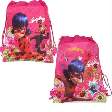 ミラキュラス レディバグ  シャノワール  巾着バッグ 2点セット 女の子 マリネット  アドリアン