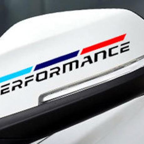 BMW ステッカー Mパフォーマンス ドアミラー E30 E34 E36 E39 E46 E53 E60 E70 E71 E85 E87 90 91 92 83 F10 20 21 30 h00232