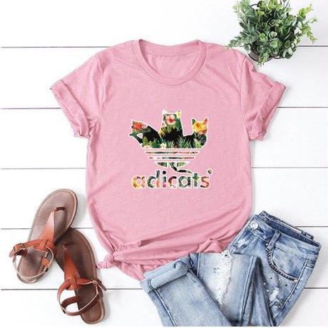 レディース 女性 ネコ 猫 キャット Tシャツ 半袖      ねこ cat ピンク