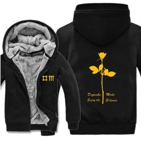 高品質デペッシュ·モード Depeche Mode フリースパーカー  スウェット 衣装 コスチューム 小道具 海外限定 17