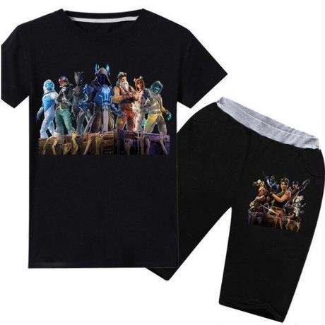 フォートナイト fortnite 子供服   Tシャツ+パンツのセット  ユニセックス カジュアル  パジャマ  8