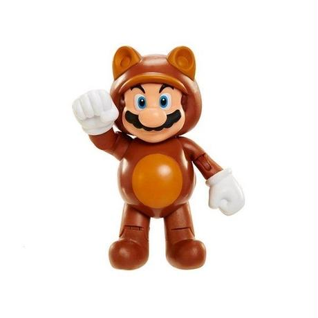 "任天堂 ニンテンドー ジャックスパシフィック JAKKS PACIFIC World of Nintendo 4"" Figure Series 04 - Tanooki Mario"