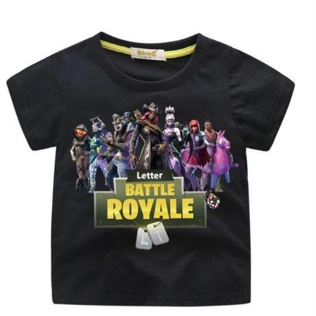 フォートナイト fortnite 子供服  プリントTシャツ ユニセックス カジュアル半袖Tシャツ トップス ブラック