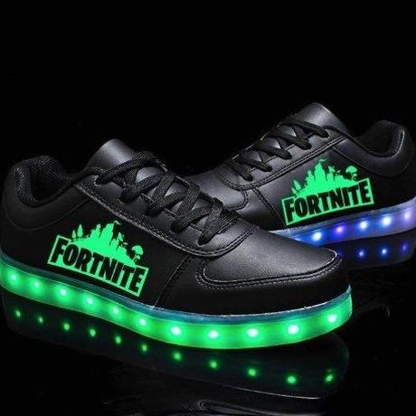 フォートナイト fortnite カラフル LED発光 スニーカー ユニセックス カジュアル シューズ バトルロイヤル  お子様にも 22.0~27.5cm
