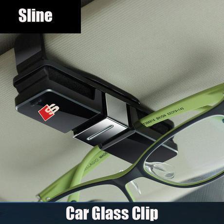 アウディ Sline クリップ サンバイザー Q3 Q5 Q7 A3 A4 A5 A6 A7 A8 カードクリップ 眼鏡ホルダー h00306