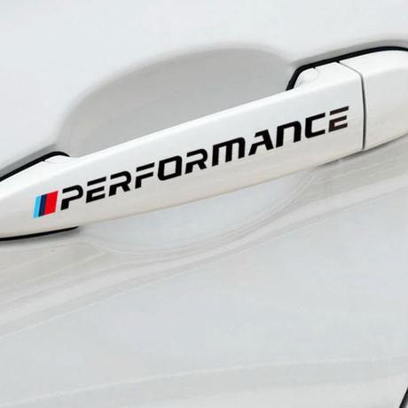 BMW ステッカー 4個入 ドアハンドル E30 E34 E36 E39 E46 E60 E87 E90 F10 F20 F30 E80 E70 Mパフォーマンス h00236