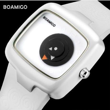 Boamigo 高級 トップブランド デジタル レディース腕時計 クリエイティブ