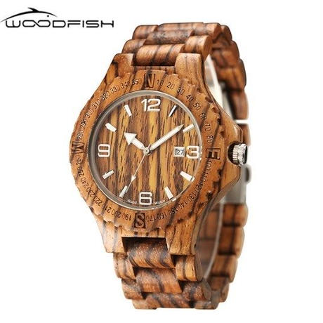 木製 腕時計 Woodfish 海外限定ブランド ヴィンテージ レトロウッド カジュアル 高級 クラシック