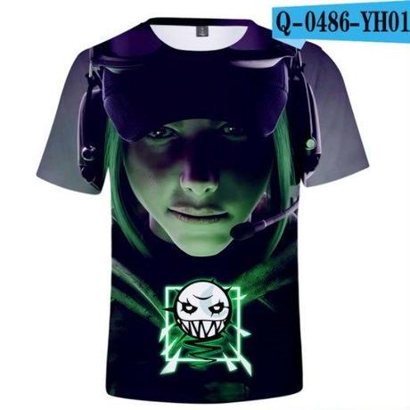 レインボーシックス シージ  ゲーミング 3Dプリント Tシャツ  半袖   Tom Clancy's Rainbow Six Siege R6S シージグッズ  2