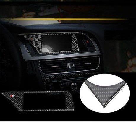 アウディ カーナビカバー リアルカーボンファイバー Audi A4 インテリア 装飾 h00300