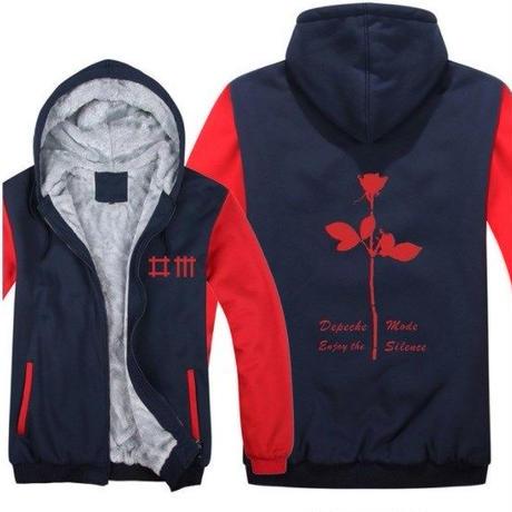 高品質デペッシュ·モード Depeche Mode フリースパーカー  スウェット 衣装 コスチューム 小道具 海外限定 11