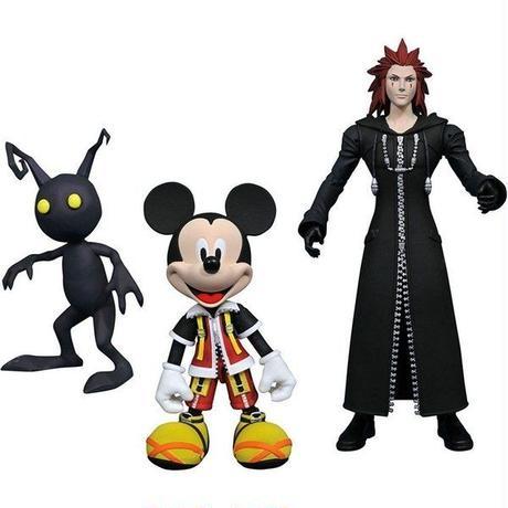 キングダム ハーツ Kingdom Hearts ダイアモンド セレクト フィギュア おもちゃ Disney Select Mickey Mouse, Axel & Shadow