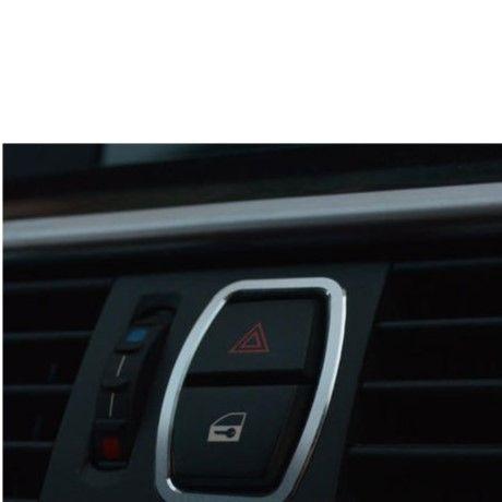 BMW ハザードボタンカバー F10 520i 525i 535i ステンレス スチール Mエンブレム 警告スイッチ h00254