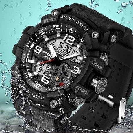 SANDA 【6カラー】スポーツウォッチ メンズ トップブランド 高級 電子LEDデジタル 腕時計 海外ブランド品