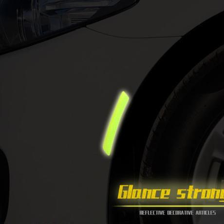 反射ステッカー 警告 夜間走行 マーク デカール 発光 車 BMW フォード ベンツ アウディ h00123