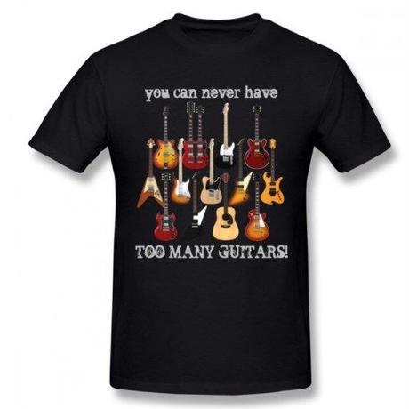 ギター名器 集合 Tシャツ ギタリスト  レスポール フライングV GS レスポール ファイヤーバード  ストラト ユニセックス 男女兼用
