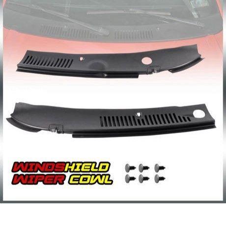 フォード マスタング 99-04年 フロントガラス ワイパーカウルベント グリルパネルフード 送料込 黒 h01430