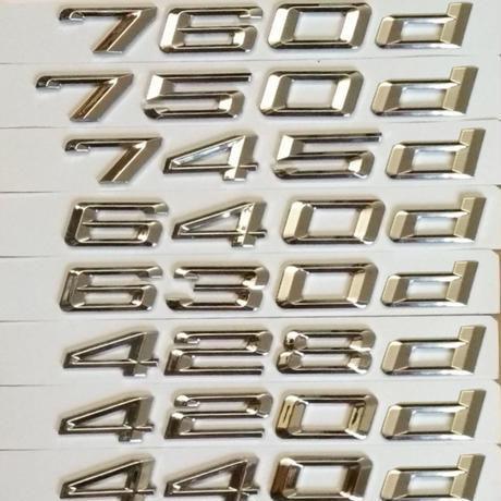 BMW エンブレム 630d 640d 650d 735d 745d 760d 420d リアステッカー E38 E63 E64 F01 F12 F35 h00240