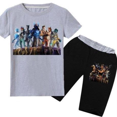 フォートナイト fortnite 子供服   Tシャツ+パンツのセット  ユニセックス カジュアル  パジャマ  4