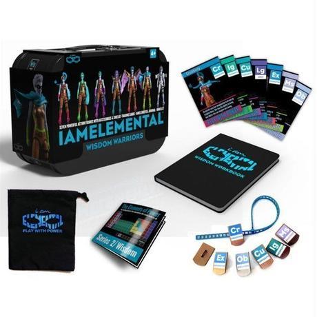 """アイアムエレメンタル アイアムエレメンタル IAMELEMENTAL IAmElemental 4"""" Figure Series 02 Wisdom: Lunchbox Pack of Seven"""
