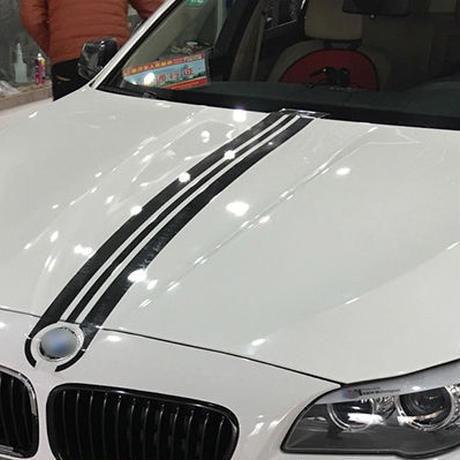 BMW ステッカー ボンネット f30 f31 e90 e91 e46 e39 e60 f10 f11 f15 x5 f30 ストライプ h00065