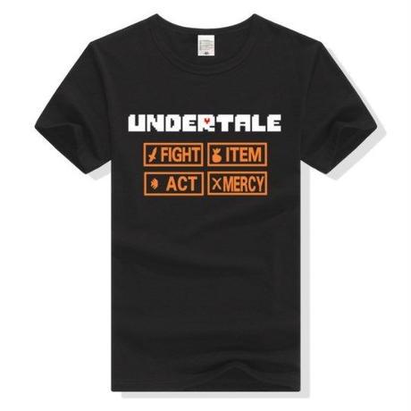 ゲームグッズ アンダーテール Undertale   ロゴTシャツ  ユニセックス ブラック
