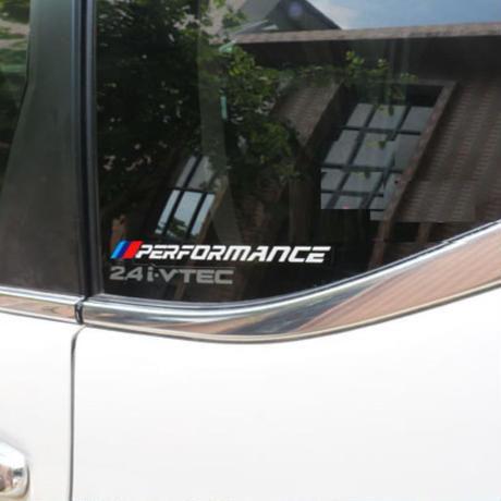 BMW ステッカー 2個入 Mパフォーマンス E30 E36 E46 E90 F01 F20 F30 E60 1 2 3 5シリーズ x1 x3 x4 x5 x6 h00216