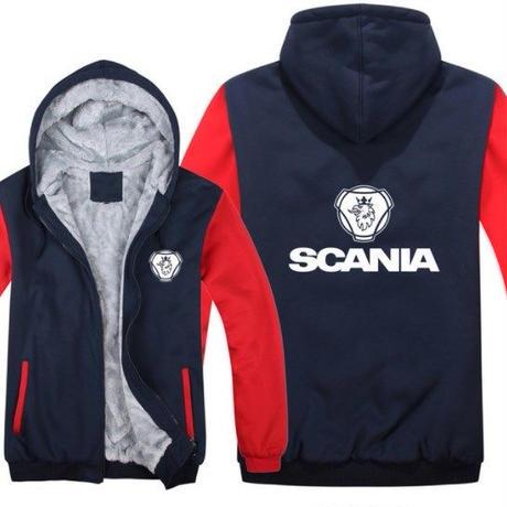 高品質  スカニア SCANIA   あったかい フリースパーカー ジップアップ  衣装 コスチューム 小道具 海外限定 10