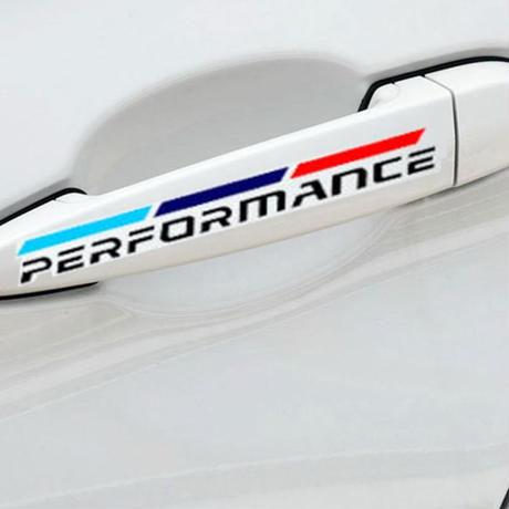 BMW ステッカー 4個入 ドアハンドル E30 E34 E36 E39 E46 E53 E60 E70 E71 E85 E87 E90 E91 E92 E83 F10 20 21 30 h00234