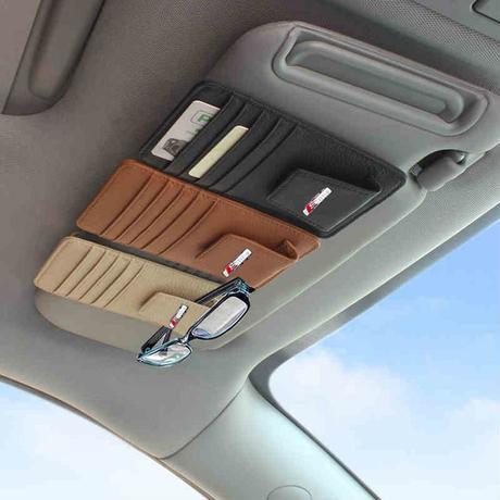 アウディ カードホルダー カードケース レザー Sline サンシェード Audi A1 A3 A5 A7 Q3 Q5 Q7 h00307