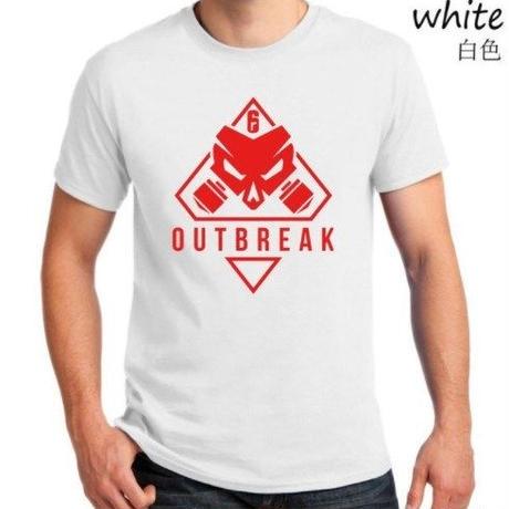 レインボーシックス シージ  ゲーム Outbreak ロゴ Tシャツ Tom Clancy's Rainbow Six Siege ユニセックス R6S シージグッズ 2