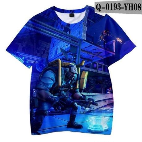 フォートナイト fortnite 子供服  3Dデザイン Tシャツ ユニセックス カジュアル半袖Tシャツ トップス  バトルロワイヤル  4
