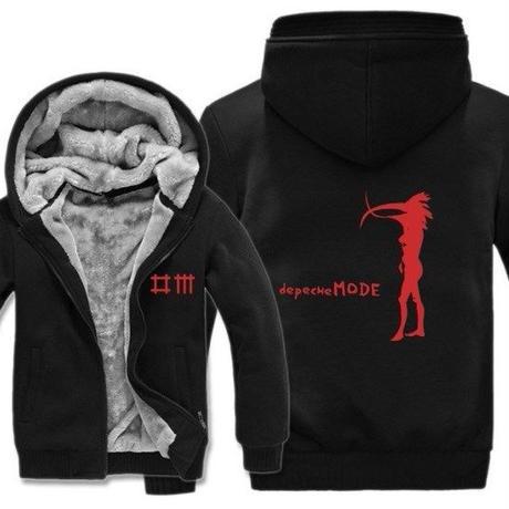 高品質デペッシュ·モード Depeche Mode フリースパーカー  スウェット 衣装 コスチューム 小道具 海外限定 12
