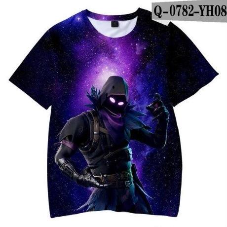 フォートナイト fortnite 子供服  3Dデザイン Tシャツ ユニセックス カジュアル半袖Tシャツ トップス  バトルロワイヤル  6