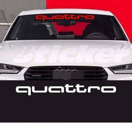アウディ ステッカー  quattro 窓ガラス フロント リア Audi A1 A3 A4 A4L A6 A6L A7 A8 Q3 Q5 Q7 TT S RS h00333