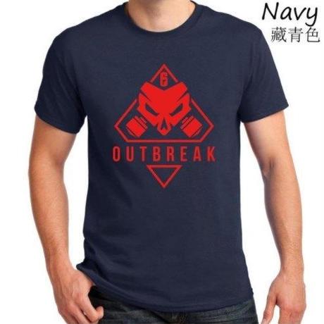 レインボーシックス シージ  ゲーム Outbreak ロゴ Tシャツ Tom Clancy's Rainbow Six Siege ユニセックス R6S シージグッズ 3