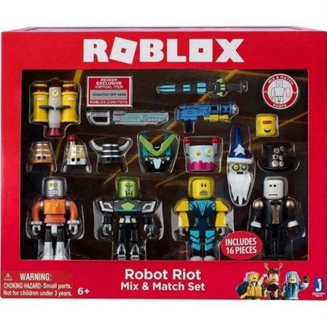 ロブロックス Roblox ジャズウェアーズ Jazwares おもちゃ Robot Riot Mix & Match 4-Pack Set