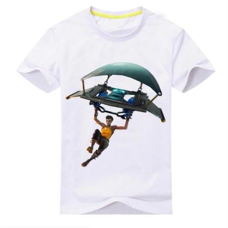 フォートナイト fortnite 子供服  グラインダー ステルスプリントTシャツ ユニセックス カジュアル半袖Tシャツ トップス 9色展開 バトルロワイヤル  ホワイト
