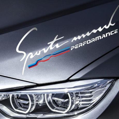 BMW ステッカー Mパワー Mパフォーマンス E46 E60 E64 E70 E83 E85 E85 E87 E90 F10 F20 F30 1 2 3 5 7 X h00207