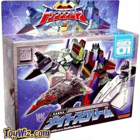 トランスフォーマー Transformers タカラトミー   Japanese Energon Deluxe Starscream Action Figure SD-01 [Nightscream]