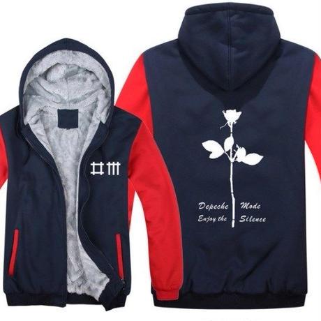 高品質デペッシュ·モード Depeche Mode フリースパーカー  スウェット 衣装 コスチューム 小道具 海外限定 3